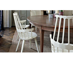 Patricia Urquiola Comback Chair White White Legs Dining Table Kartell