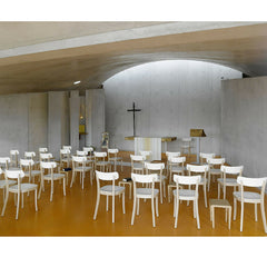 White Jasper Morrison Basel Chairs in European Church Vitra