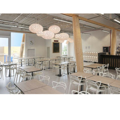 White Masters Chairs in Restaurant Philippe Starck for Kartell.