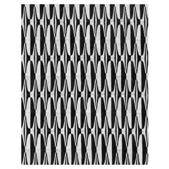 Yerra Art Deco Cowhide Rug Black and White