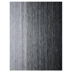 Mini Stripes Grey Ombre Cowhide Rug