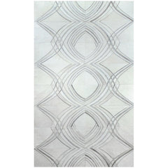 Yerra Vector Cowhide Rug Milk and Stone