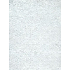 Yerra Y Rug Milk White Handstitched Cowhide