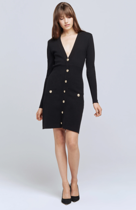 L'AGENCE BREANNA VNECK MINI DRESS (4919835295815)