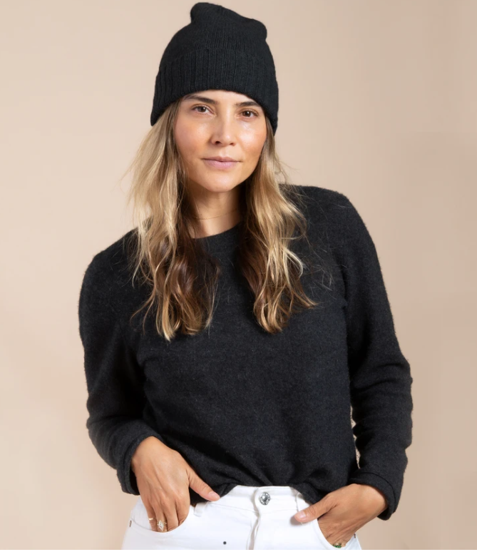Cashmere Slouchy Cuff Hat (4907680038983)