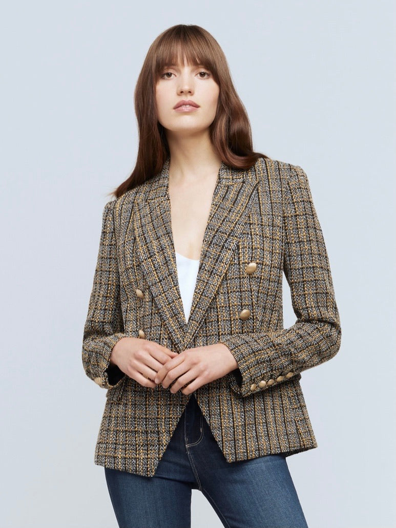 L'AGENCE KENZIE DOUBLE BREAST LUREX BLAZER (4945319854151)