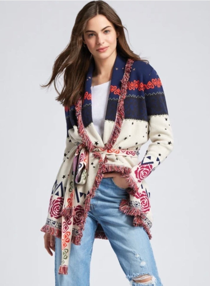 525 AMERICA BELTED LONG SLEEVE CARDIGAN (4910177058887)