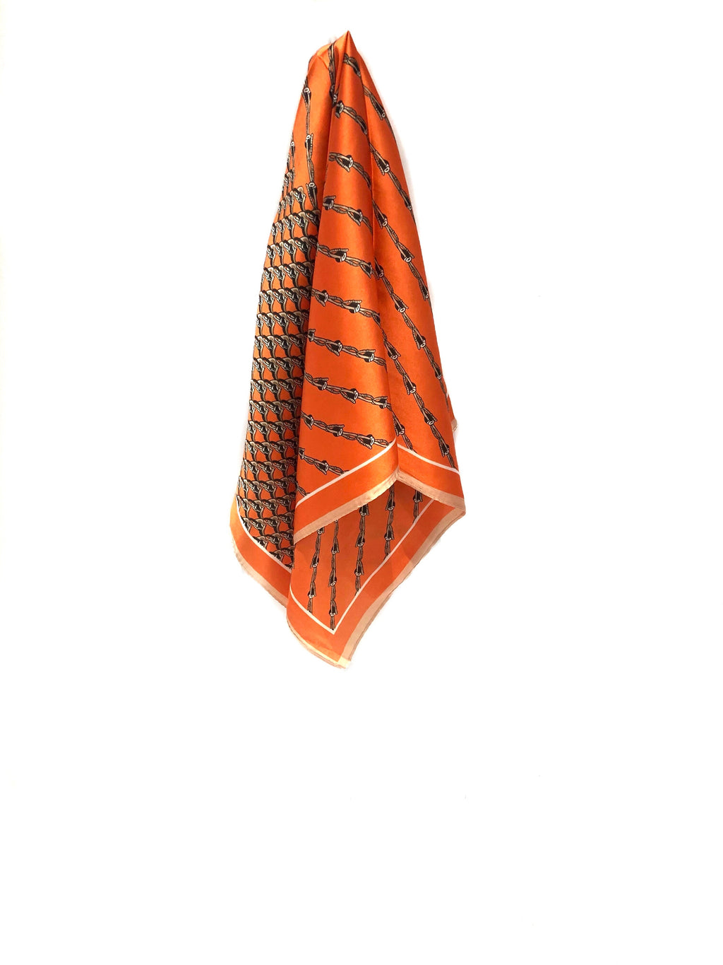 PINKPINEAPPLE ORANGE SILK SCARF (4921345704007)