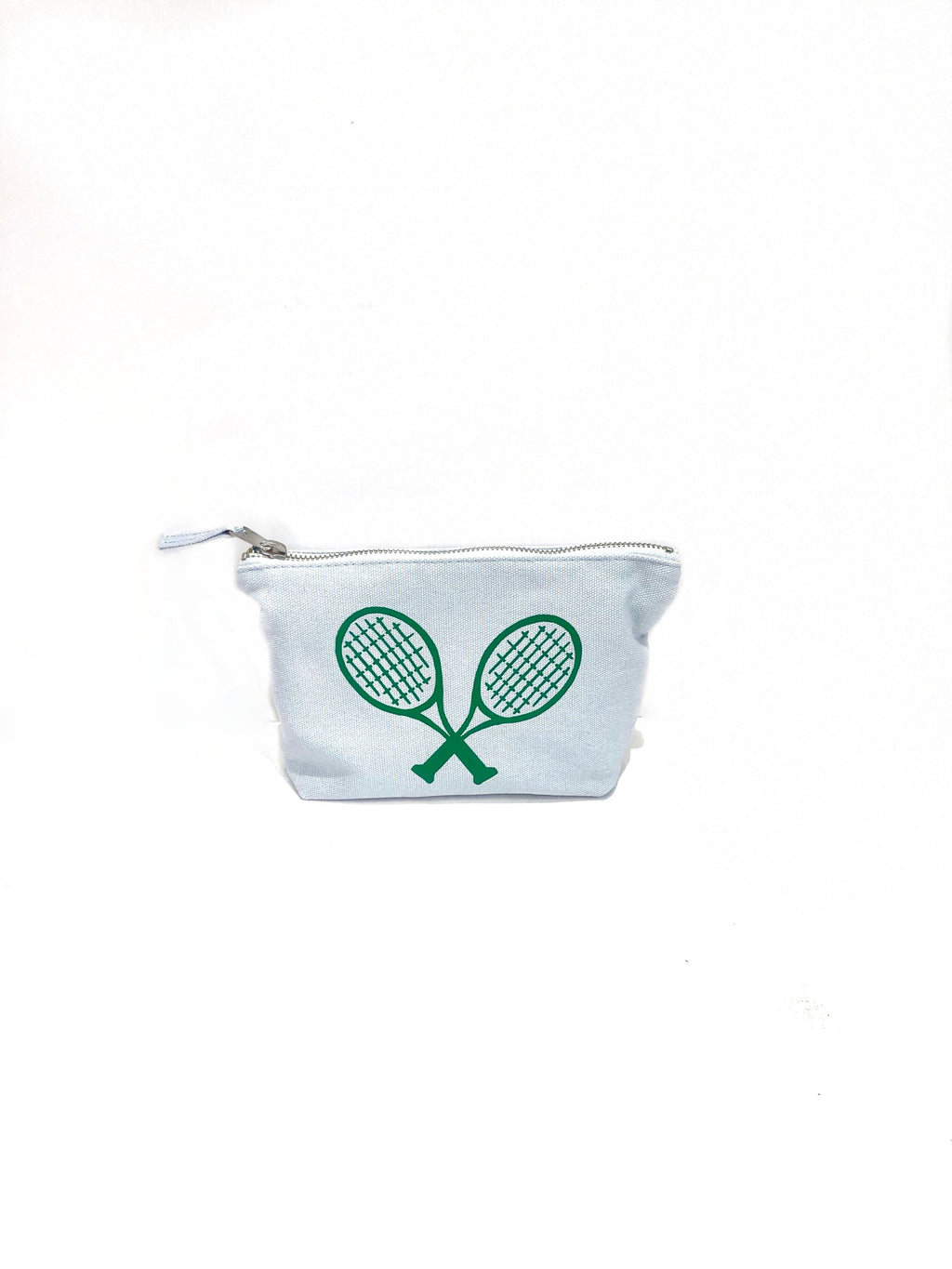 Makeup Bag Blue with Tennis (4919874256967)