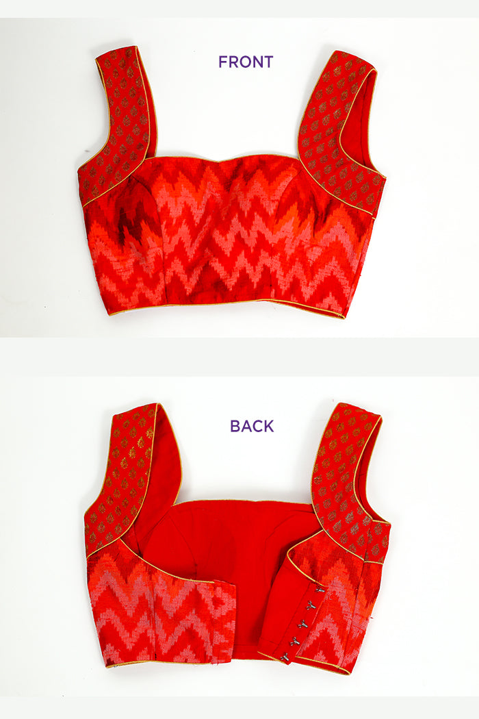 Red Ikat Blouse