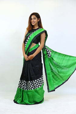 HP Black Saree
