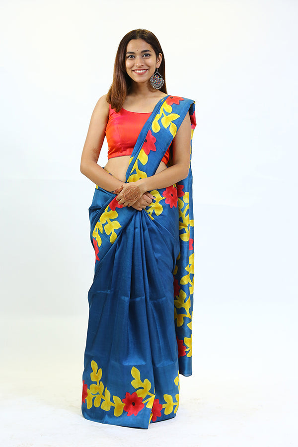 Hp Blue Saree