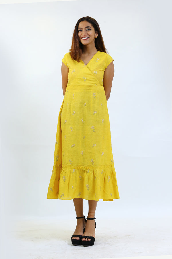 Mustard Printed Dress/Tunic