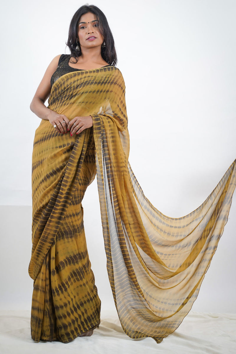 Green Batik Saree