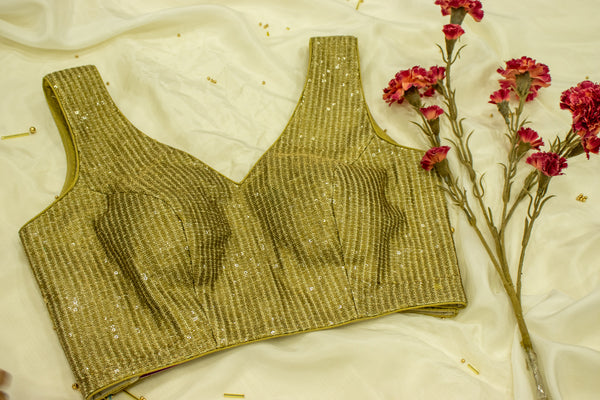Antique Gold Sequined Blouse