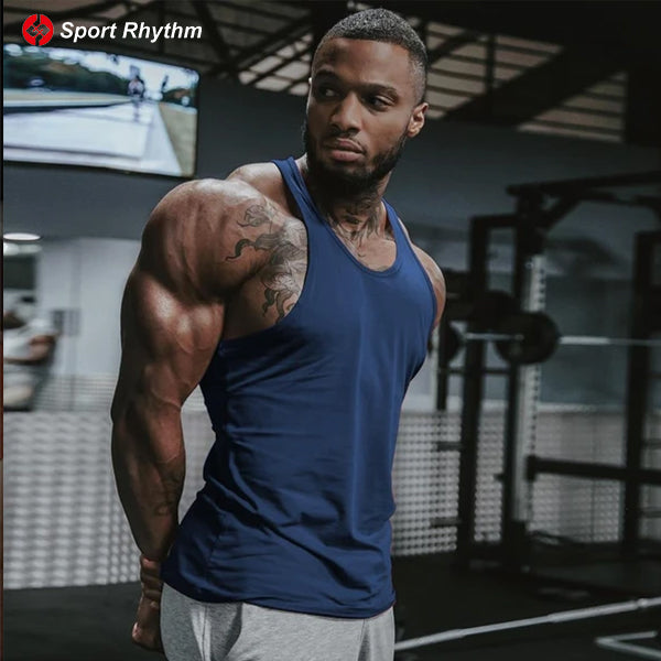 Sportrhythm™ Quality Stringer Muscle Tank Tops