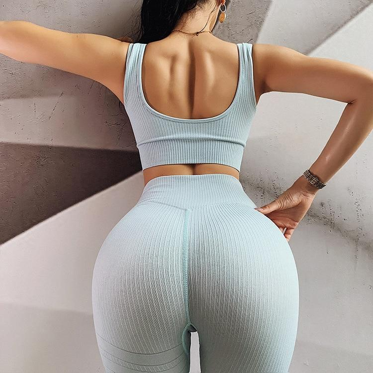 Sportrhythm™ Light Blue Extreme Seamless Fitness Set