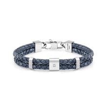Load image into Gallery viewer, TRIBE BRACELET 026435/004 DOUBLE BLUE LEATHER