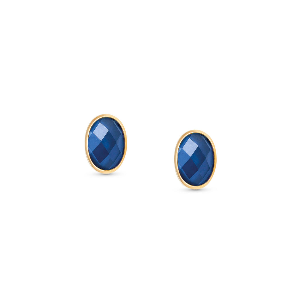 EARRINGS 027841/007 BLUE CZ