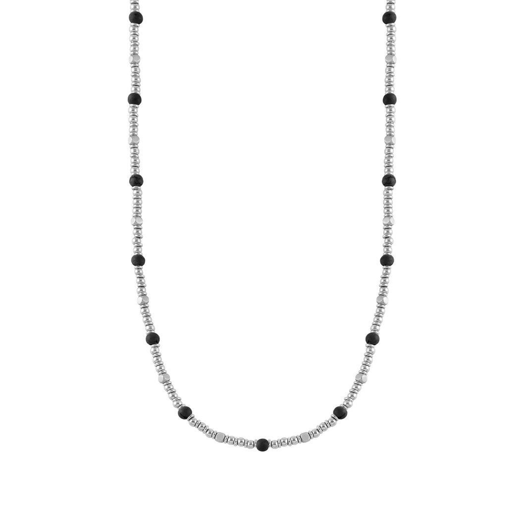 INSTINCT NECKLACE 027906/044 OPAQUE ONYX