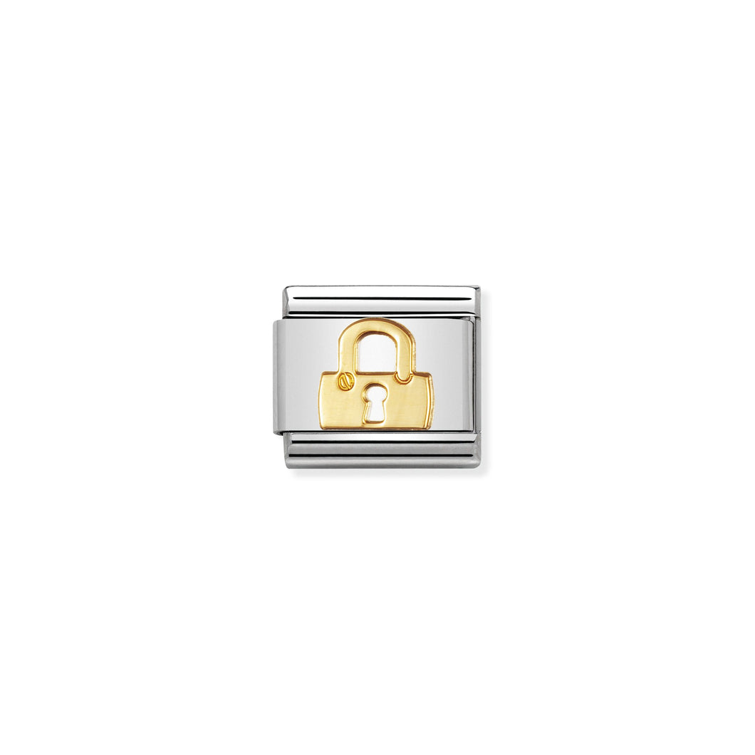 COMPOSABLE CLASSIC LINK 030109/01 PADLOCK SYMBOL IN 18K GOLD