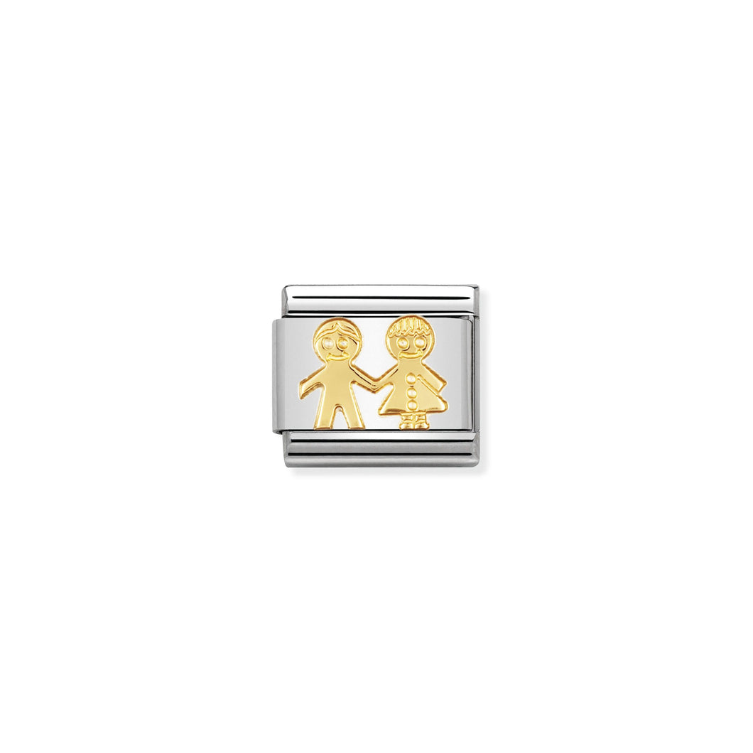 COMPOSABLE CLASSIC LINK 030110/05 CHILDREN IN 18K GOLD