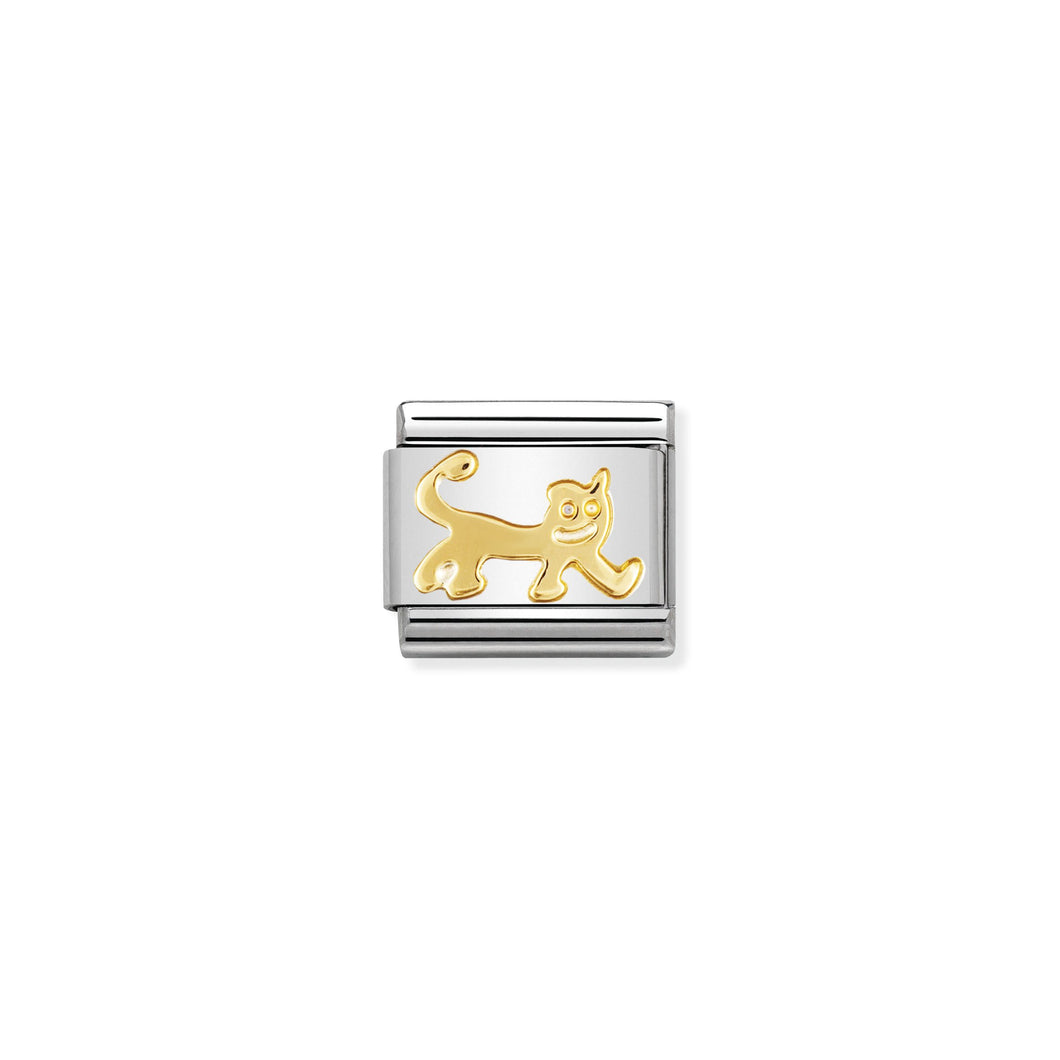 COMPOSABLE CLASSIC LINK 030112/21 CAT IN 18K GOLD