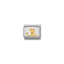 Load image into Gallery viewer, COMPOSABLE CLASSIC LINK 030112/32 SEATED CAT IN 18K GOLD
