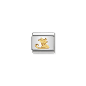 COMPOSABLE CLASSIC LINK 030112/32 SEATED CAT IN 18K GOLD
