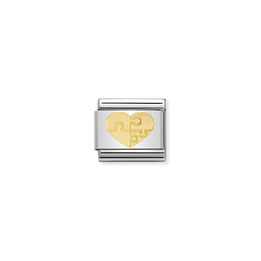 COMPOSABLE CLASSIC LINK 030116/18 HEART WITH PUZZLE IN 18K GOLD