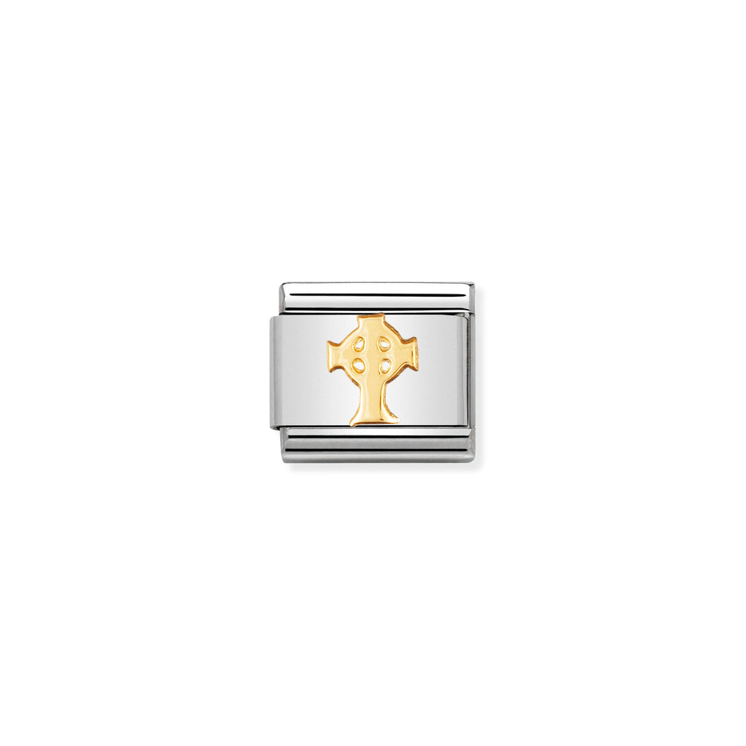 COMPOSABLE CLASSIC LINK 030119/01 CELTIC CROSS IN 18K GOLD