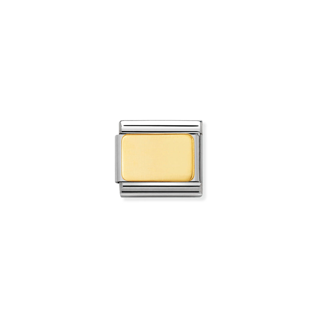 COMPOSABLE CLASSIC LINK 030121/01 ENGRAVABLE PLATE IN 18K GOLD