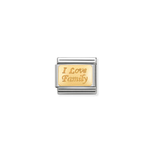 COMPOSABLE CLASSIC LINK 030121/33 I LOVE FAMILY IN 18K GOLD