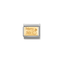 Load image into Gallery viewer, COMPOSABLE CLASSIC LINK 030121/44 MARRY ME IN 18K GOLD