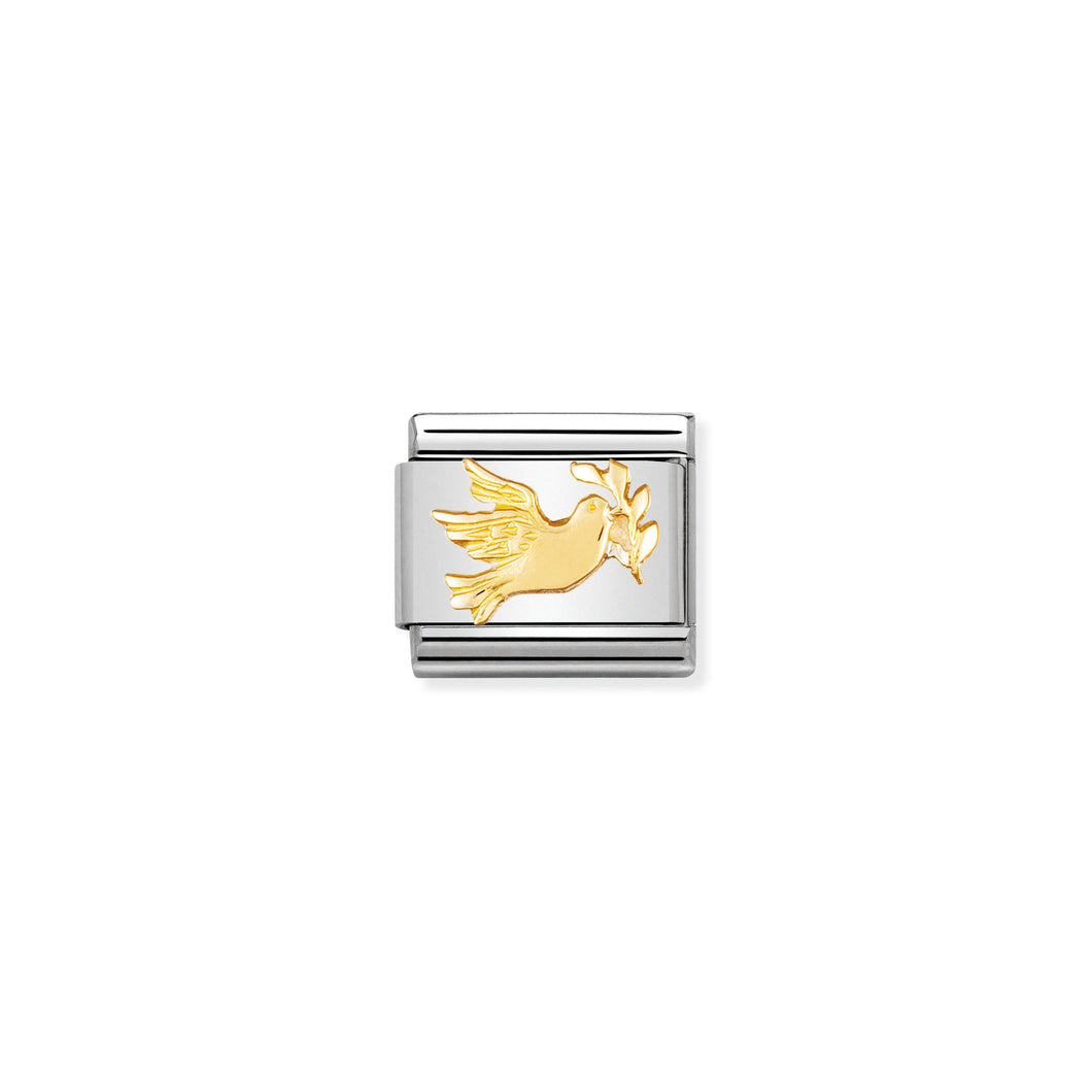 COMPOSABLE CLASSIC LINK 030122/09 PEACE DOVE IN 18K GOLD