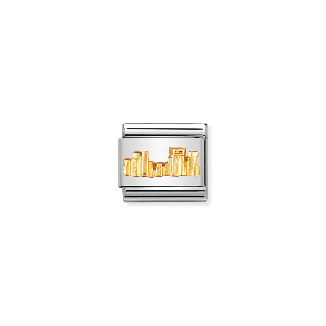 COMPOSABLE CLASSIC LINK 030123/38 STONEHENGE IN 18K GOLD MONUMENTS