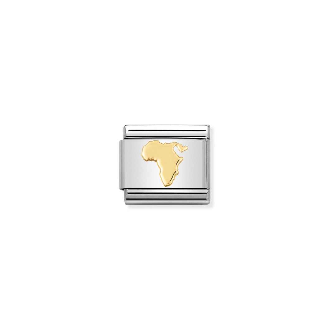 COMPOSABLE CLASSIC LINK 030128/09 MAP OF AFRICA IN 18K GOLD