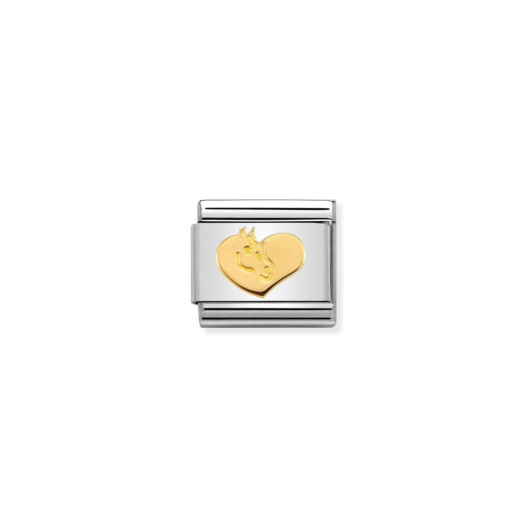 COMPOSABLE CLASSIC LINK 030149/27 HEART WITH HORSE IN 18K GOLD