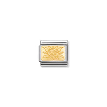 Load image into Gallery viewer, COMPOSABLE CLASSIC LINK 030153/19 PLATE WITH SUN IN 18K GOLD