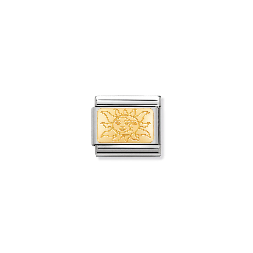 COMPOSABLE CLASSIC LINK 030153/19 PLATE WITH SUN IN 18K GOLD