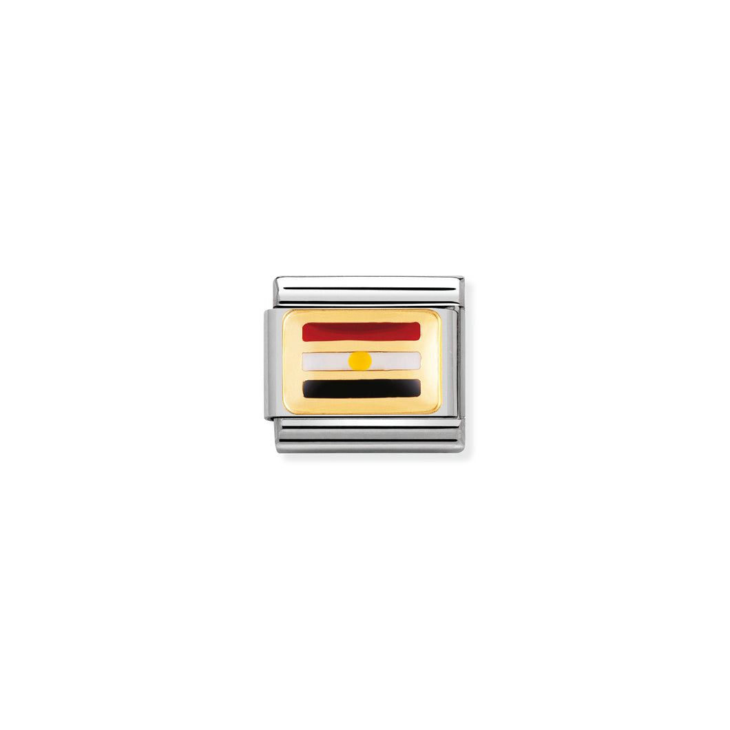 COMPOSABLE CLASSIC LINK 030237/17 EGYPT FLAG IN 18K GOLD AND ENAMEL