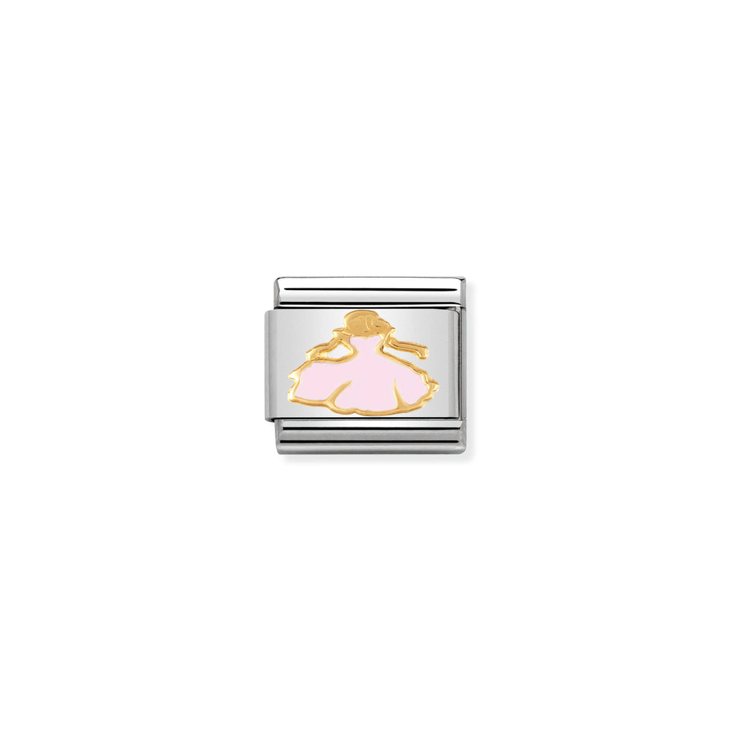 COMPOSABLE CLASSIC LINK 030272/15 PRINCESS 18K GOLD AND ENAMEL