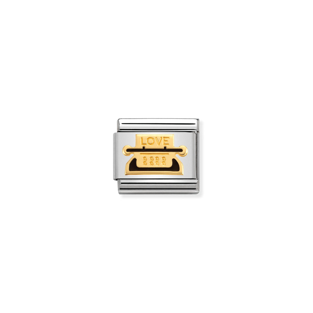 COMPOSABLE CLASSIC LINK 030283/19 TYPEWRITER 18K GOLD AND ENAMEL