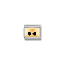 Load image into Gallery viewer, COMPOSABLE CLASSIC LINK 030284/25 MR WITH BOW TIE 18K GOLD AND ENAMEL