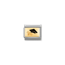 Load image into Gallery viewer, COMPOSABLE CLASSIC LINK 030284/27 DIPLOMA 18K GOLD AND ENAMEL