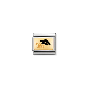 COMPOSABLE CLASSIC LINK 030284/27 DIPLOMA 18K GOLD AND ENAMEL