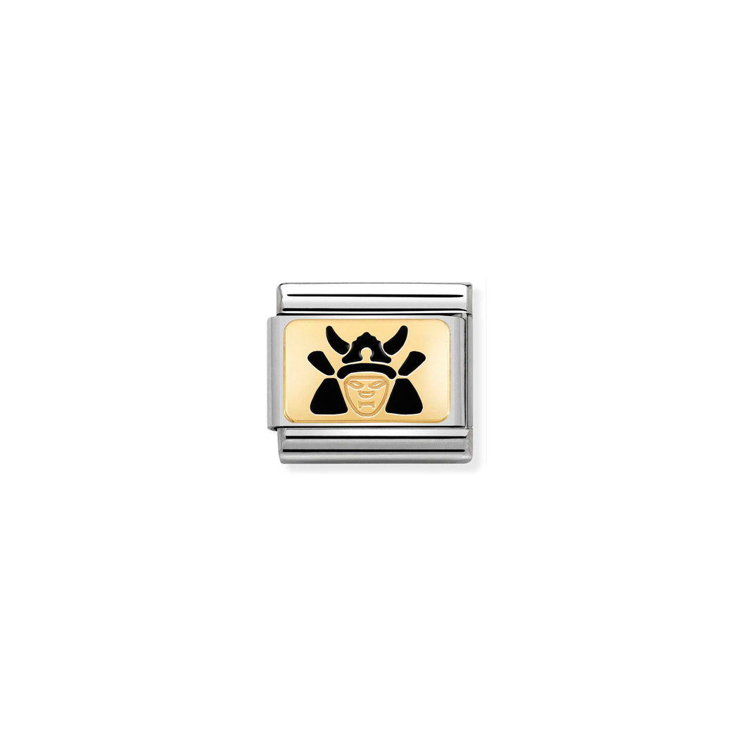 COMPOSABLE CLASSIC LINK 030287/12 SAMURAI 18K GOLD AND ENAMEL
