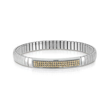 Load image into Gallery viewer, EXTENSION BRACELET GLITTER 043210/024 STAINLESS STEEL & CHAMPAGNE SWAROVSKI®