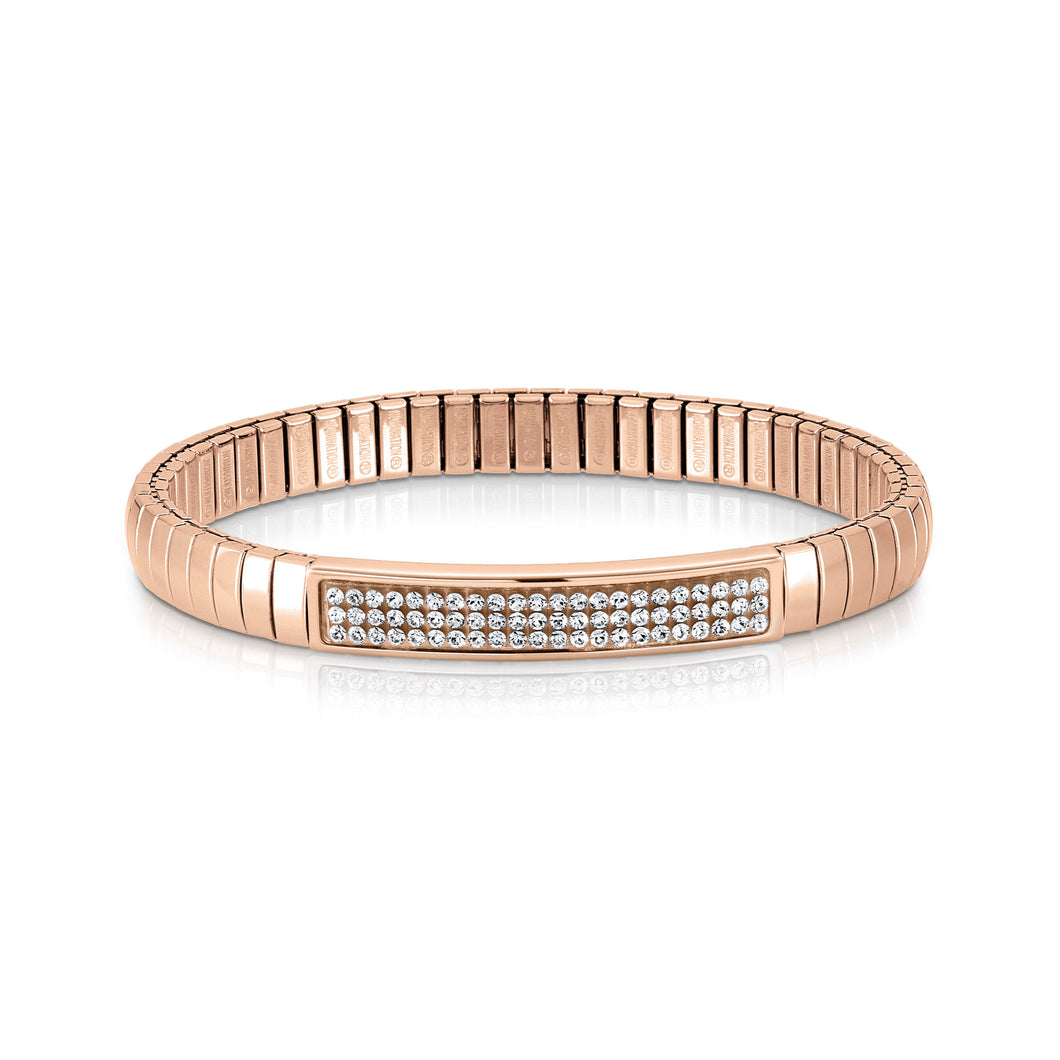 EXTENSION BRACELET GLITTER 043213/010 ROSE GOLD PVD & WHITE SWAROVSKI®