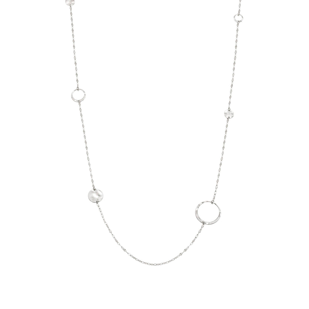 LUNA NECKLACE 140447/010 LONG SILVER